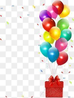 الخيال جميل لون ملون لطيف عيد ميلاد بالونات حزب الحرير وشاح Birthday Background Cute Happy Birthday Happy Birthday Png
