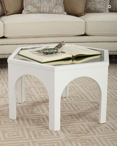Kiera Mirror Top Coffee Table Table Marble End Tables Mirrored
