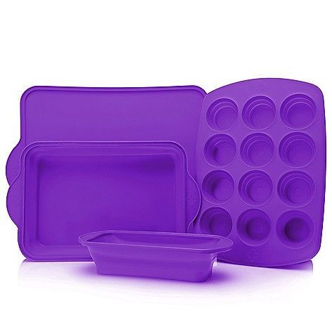 Cook S Companion 4 Piece Collapsible Silicone Bakeware Set