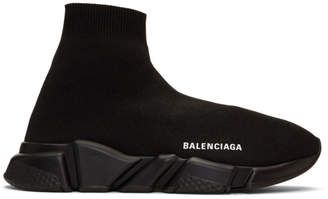 Balenciaga Black Speed Sneakers 750 At Ssense With Images