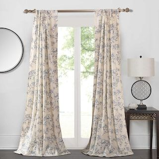 Greenland Home 2 Pack Classic Toile Window Curtains Null Panel