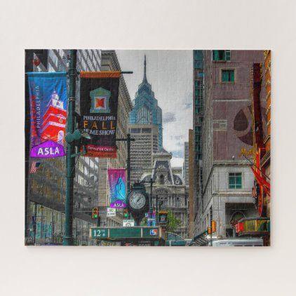 Christmas Eve Philadelphia 2020 Street Scene Philadelphia Jigsaw Puzzle | Zazzle.in 2020