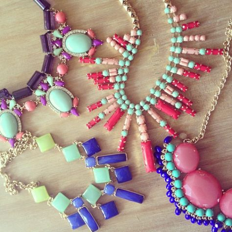 Cute pastel necklaces!
