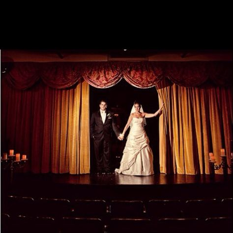 Theater Wedding Professional Photo Idea On Stage At Local Theatre Ideas Leen And Leif S Pinterest