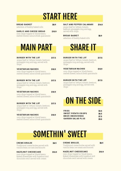 1 Menu Template, 10 Ways - Hack Your Visual Design Series - Easil Keep your menus fresh, up-to-date and looking delicious with Easil's menu template selection and menu maker. We show you how to take one menu template design and change it 10 unique ways.