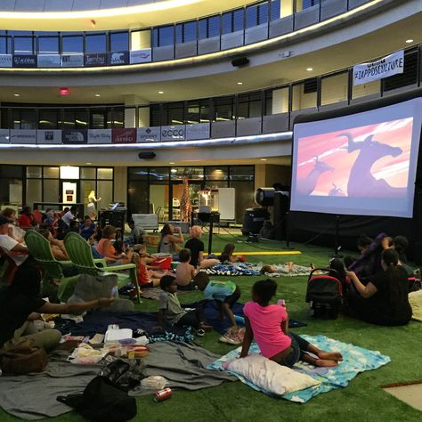 We do movie nights with the Zappos Family. Lion King