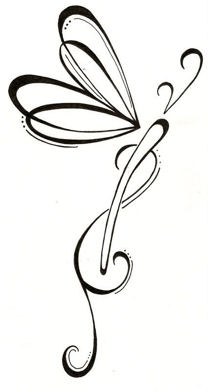 Dragonfly Tattoo Design by ~SilverWingsButterfly on deviantART