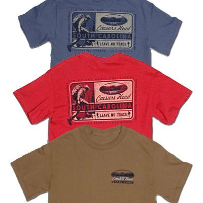 The Caesars Head State Park hiker trail tshirt.  $19.99 in various colors and sizes.