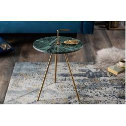 Handgearbeiteter Beistelltisch Simply Clever 36cm Grun Gold Marmor Mit Griff Riess Ambiente In 2020 Metall Tischplatte Rund Und Design Tisch