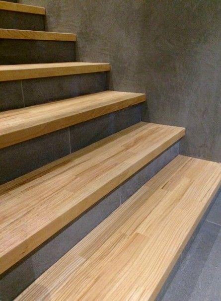 Habillage Escalier Beton Interieur Marche En Bois Sur Mesure Ascenso En 2021 Habillage Escalier Habillage Escalier Beton Escalier Beton