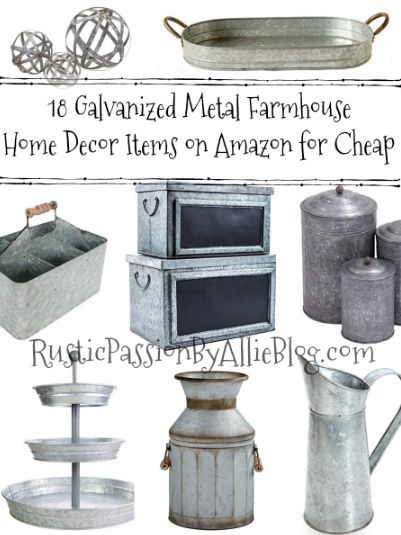 15 Of Cutest Galvanized Wall Decor And Table Decorations For Cheap Home Decor Galvanized Metal Decor Cheap Home Decor