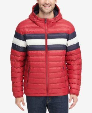 Tommy Hilfiger Men Color Block Hooded Ski Coat In 2020 Jacken