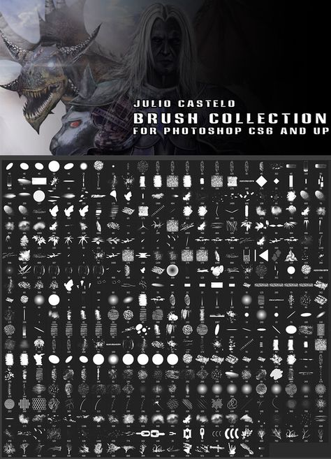 Julio Castelo Brush Collection for Photoshop CS6 by JulioCastelo on DeviantArt