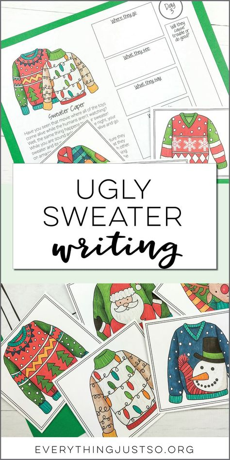 resources — everything just so 4th Grade Writing, Middle School Writing, Middle School Teachers, Fourth Grade, Descriptive Writing Activities, Christmas Language Arts, Christmas Writing, Christmas Ideas, Art Therapy Activities