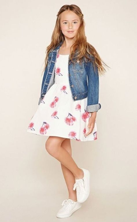 This dress with a jean jacket makes it pop out even more! Adorable!