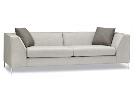 Contemporary Clean Lines Modern Chrome Legs The Kiran Just Arrived At Our South Edmonton Common Store Available For Order In Over 400 Di Sofa Modern Style