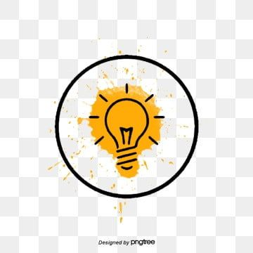 Yellow Creative Bulb Team Idea Bulb Border Light Gallbladder Luminous Decoration Background Png And Psd In 2020 Bulb Vector Png