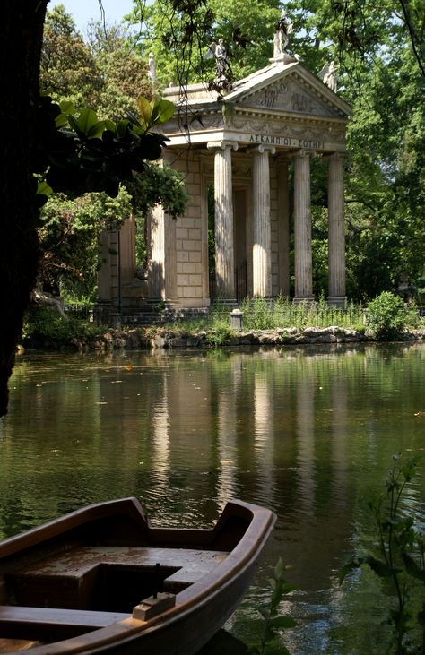 Rom, Villa Borghese, Tempietto di Esculapio (Temple of Asclepius) - Baustil Nature Aesthetic, Travel Aesthetic, Places To Travel, Places To Visit, Northern Italy, Aesthetic Pictures, Aesthetic Wallpapers, Beautiful Places, Scenery