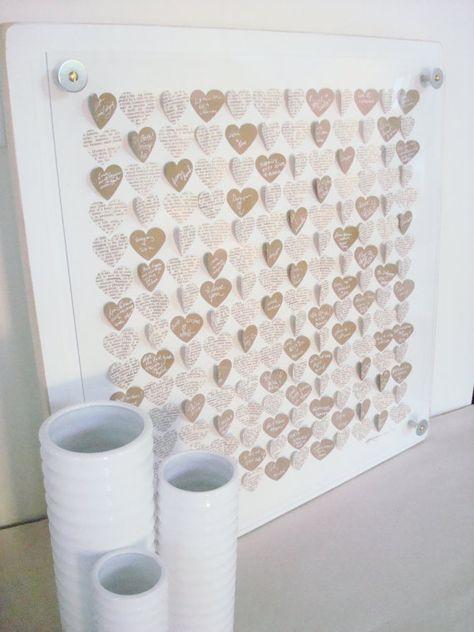 Wedding Hearts Guest Book