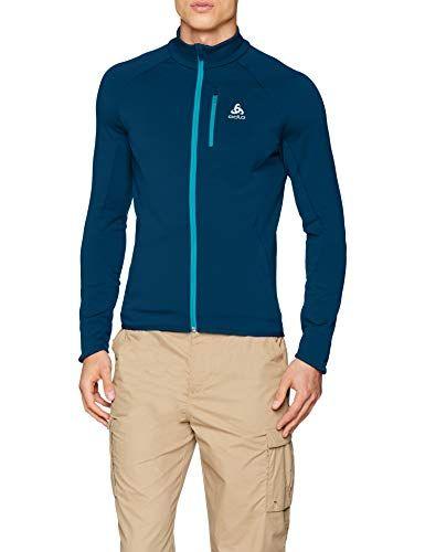 0bbd422496c157 ODLO Men's Midlayer Full Zip Carve Warm Jacket | Men Outdoor Hiking ...