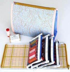 PDF pattern for a new style of pouch with a fun twist.Sturdy pouch in a booklet see-through vinyl pockets to see contents at a glance.Zips up securely for travel or storage.Great to use for sewing, stationery, kids toys, travel and more.