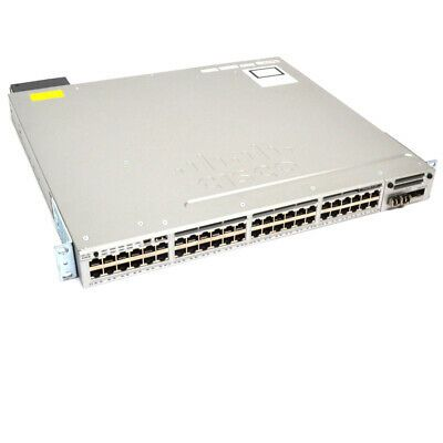 Cisco Ws C3850 48p S Ethernet Switch 48x 10 100 1000 W C3850 Nm 4 10g Module In 2020 Cisco Graphic Card Network Switch