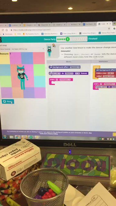 Codeorg What A Fun Project We Love The Shark Backup Dancers Remix This Project Or Make Your Own F School Library Design 21st Century Skills School Library