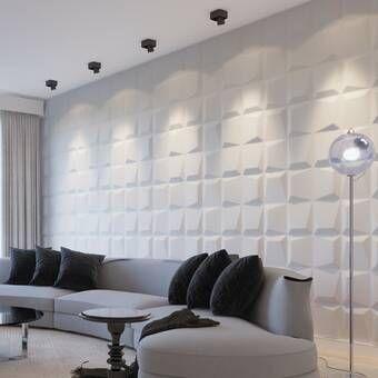 Liljenquist 31 1 X 31 1 Peel And Stick Vinyl Wall Paneling In White Wall Paneling Vinyl Wall Panels Decorative Wall Panels