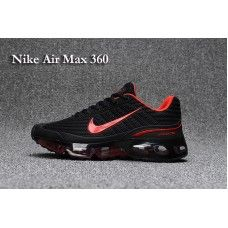 brand new fbe77 ed743 Homme Nike Air Max 360 Chaussures de course Noir Rouge | Nike ...