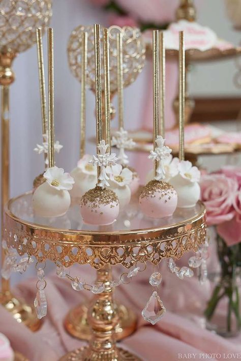 Loving the gorgeous cake pops at this beautiful Royal Baptism Baptism Party! - Loving the gorgeous cake pops at this beautiful Royal Baptism Baptism Party! See… Loving the go - Wedding Cake Pops, Wedding Cakes, Sweet 16 Birthday, Birthday Parties, Birthday Cake, Wedding Desserts, Wedding Decorations, Baptism Desserts, Girl Cakes