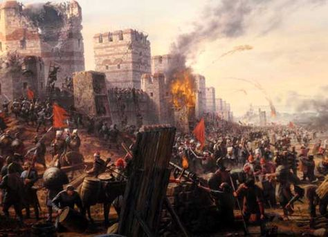 the history of the fall of constantinople The fall of constantinople in 1453 was a major turning point in the history of europe and the middle east, as it ended the reign of the byzantine.