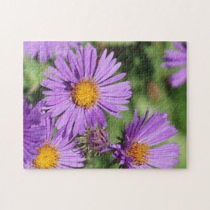 New England Aster Flower Puzzle Zazzle Com Flower Puzzles It Is Well With My Soul Aster Flower