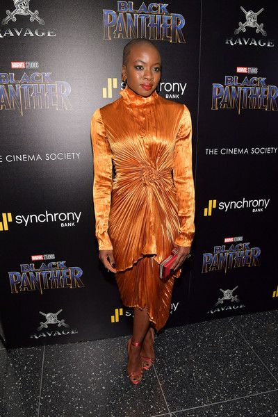 Actress Danai Gurira attends the screening of Marvel Studios' 'Black Panther' hosted by The Cinema Society.