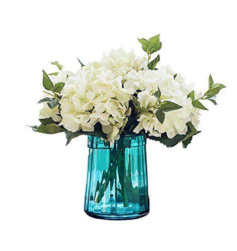Best Quality 5pcs Hydrangea Bouquet Flower Artificial Silk Hydrangea Flowers For Liv Hydrangea Flower Artificial Flowers