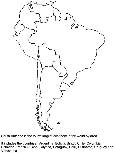 South America Map Coloring Page Jamaica