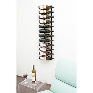 24 Bottle Metal Wall Mounted Wine Rack Vinopbevaring Vinreoler