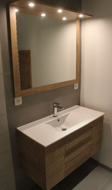 14 best Meuble salle de bain sur mesure Contemporain images on - meuble salle de bain marron