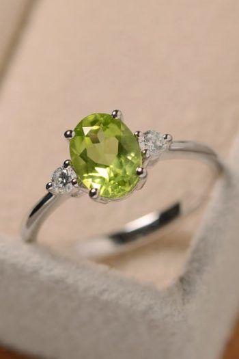Peridot Rings For Sale Unique Diamond Wedding Rings Peridot Ring 14k Engagement Ring