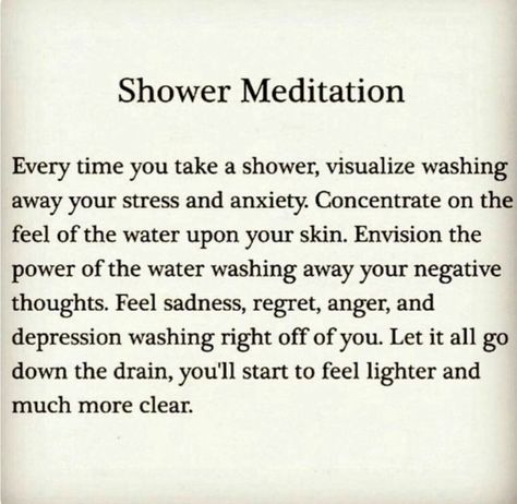 Meditation & showers are my favorite❤️
