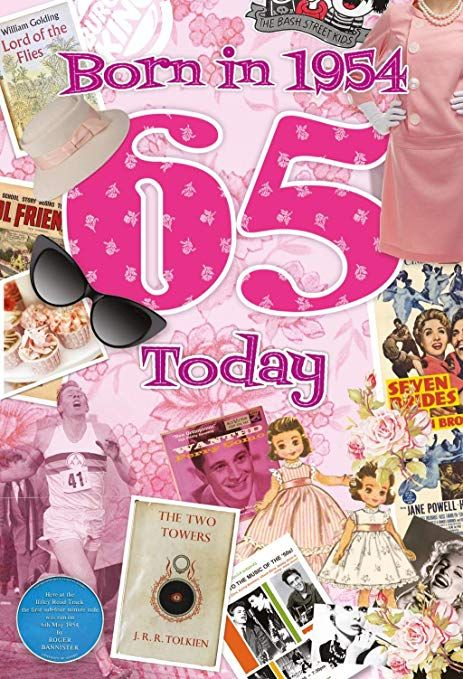 65th Birthday Card 1954 Year You Were Born Female Facts Inside