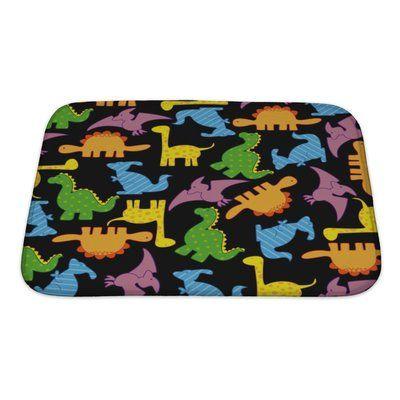 Gear New Dinosaurs Dinosaur Pattern Rectangle Non Slip Bath Rug Wayfair Pattern Bath Rugs Patterned Bath Mats Bath Rug