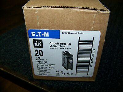 Sponsored Ebay Eaton 20 Amp Circuit Breaker Single Pole Type Br 10 Ea Br120 New Circuit Ebay Eaton Corporation
