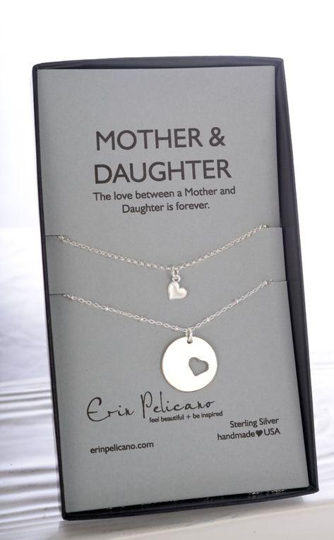 Mutter-Tochter-Halskette set Mutter der Braut von erinpelicano