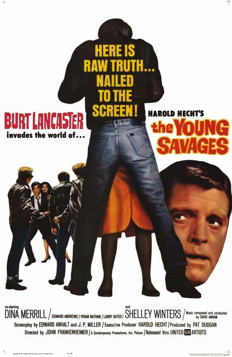 The Young Savages (1961) Screen Legend Burt Lancaster (Elmer Gantry) gives a forceful performance as a prosecutor, whose search for the truth puts his career in jeopardy, in this thought-provoking cou