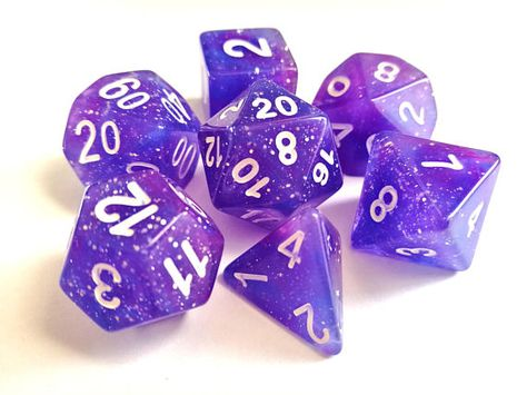Pathfinder Role Playing Games Bright Purple Blue Dice with Color Changing Star HD DICE DND Polyhedral Dice for Dungeons and Dragons D/&D