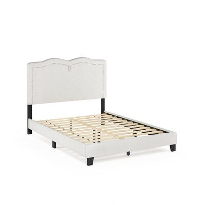 Alcott Hill Pinson Nailhead Trim Bed Frame Upholstered Platform
