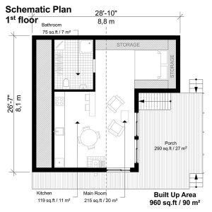 Two Story Flat Roof House Plans Flat Roof House House Floor Plans House Plans