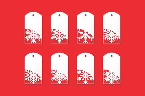 Christmas Set of white paper Sales Tags. Winter tags (1283939)   Icons   Design Bundles