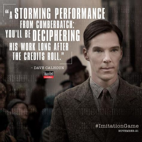 #BenedictCumberbatch inspires as Alan Turing in The #ImitationGame. http://twitter.com/ImitationGame/status/520021264572760064/photo/1