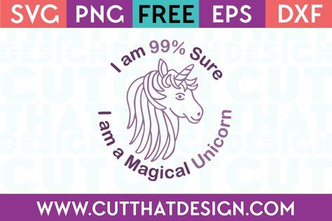I am 99% Sure I am a Magical Unicorn | Circut Projects, Info